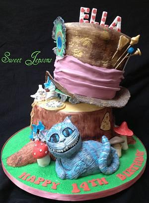 Alice in Wonderland (Tim Burton Stylee) - Cake by Kazza
