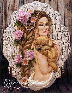 """Puppy Love"" - Cake by Inspiration by Carmen Urbano"