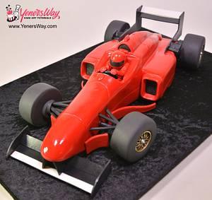 3D Formula One Racing Car Cake - Cake by Serdar Yener   Yeners Way - Cake Art Tutorials