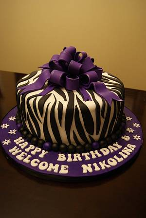 Trendy Zebra Cake - Cake by Angela