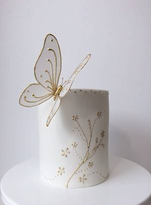 Wafer paper Butterfly  - Cake by Audrey