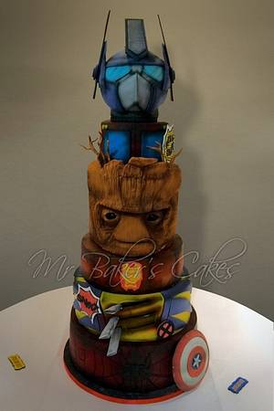Marvel (and Transformers) Wedding Cake - Cake by Mr Baker's Cakes