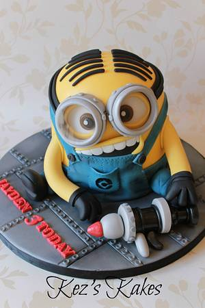 Despicable me 'Minion Dave' - Cake by Kerry Rowe