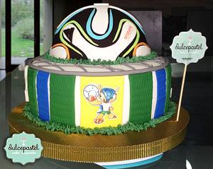 Brazil 2014 Cake - Cake by Dulcepastel.com