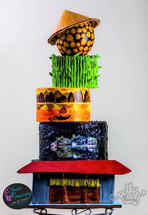 Việt Nam on my mind… - Cake by Sweet Rhapsody Cake Art Studio