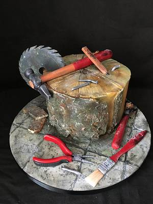 Builders cake for old builder Lamby  - Cake by Nightwitch