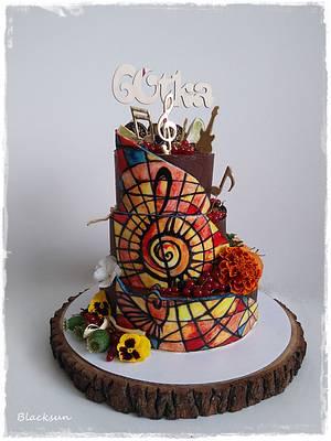 Stained glass and ganache - Cake by Zuzana Kmecova