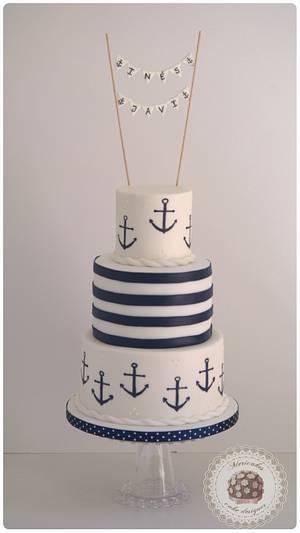 Sailor wedding cake  - Cake by Mericakes
