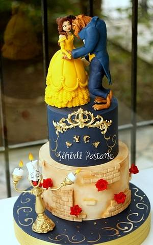 Beauty and the Beast Cake - Cake by Sihirli Pastane