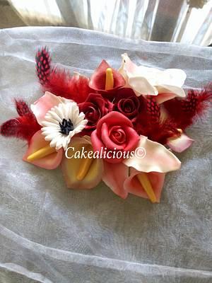 Gum paste flowers - Cake by cakealicious77