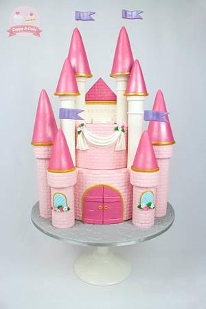 Princess castle cake - Cake by Cuppy & Cake