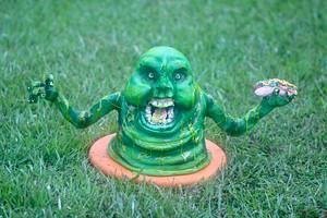 Slimer - Cake by QuilliansGrill