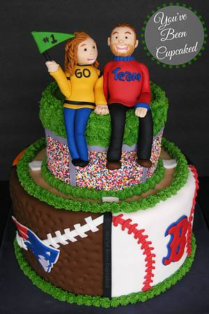 """♫ ♪ ♫ And it's One! Two! Three goals! """"Slam Dunk!"""" at the Football game! ♫ ♪ ♫ - Cake by You've Been Cupcaked (Sara)"""