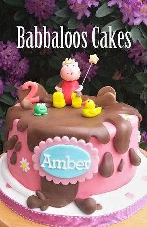 Peppa Pig princess cake - Cake by Babbaloos Cakes
