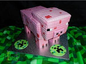 MineCraft Pig for Christian - Cake by Jacqueline