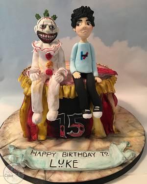 American Horror Story- Twisty the Clown - Cake by Kelly Hallett