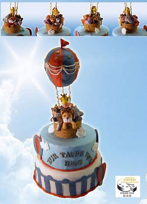 hotair ballon christening cake - Cake by Aurelia'sTartArt
