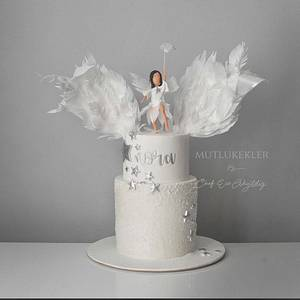 Angel theme cake - Cake by Caking with love