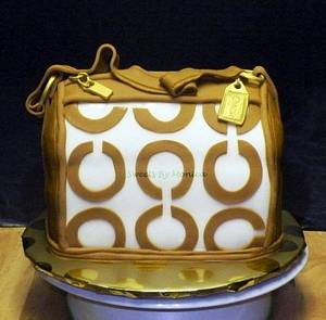 Caramel Coach Purse - Cake by Sweets By Monica