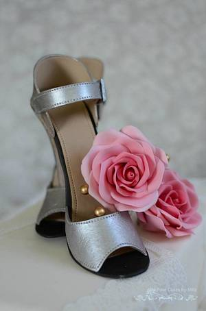 Sparkly Bridal Shoes - Cake by Mila - Pure Cakes by Mila