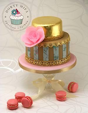 Vintage Wedding Concept - Cake by Michaela Fajmanova