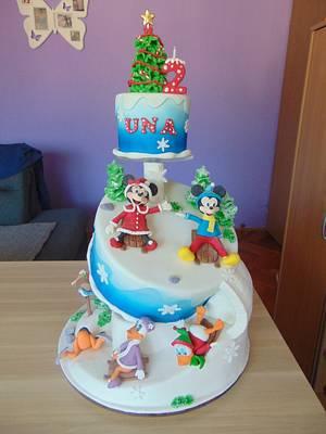 Disney on snow - Cake by Zaklina