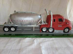 My First Semi Truck Cake - Cake by Pamela
