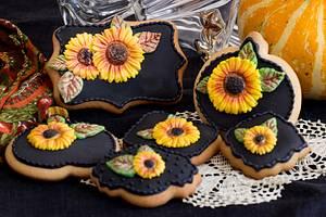 Sunflower Etudes - Cake by Angellove's Bakery