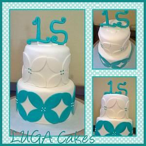XV años - Cake by Luga Cakes
