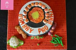 Indian cuisine collaboration-pav bhaji - Cake by pooja1612