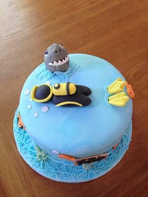 Scuba diver cake - Cake by Sadie Smith