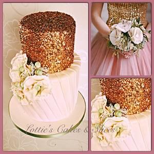 Fashion inspired Wedding Cake - Cake by Lotties Cakes & Slices