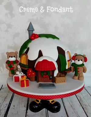 Christmas Pudding Cake - Cake by Creme & Fondant