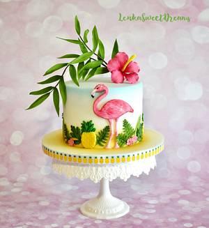 Tropical birthday cake. - Cake by LenkaSweetDreams
