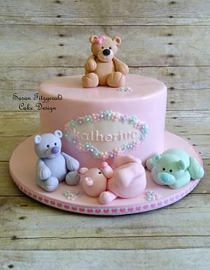 Pink Teddy Bear Cake - Cake by Susan Fitzgerald Cake Design
