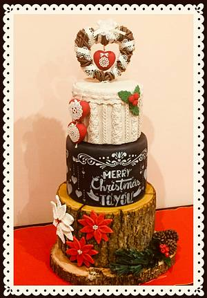 A.....Shabby Christmas to you!!! - Cake by Lallacakes