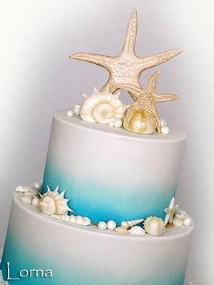 Sea theme - Cake by Lorna