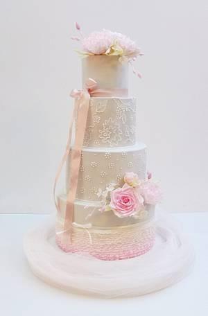 Romantic wedding cake - Cake by SWEET architect