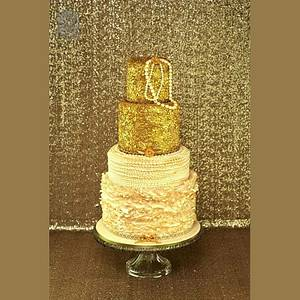 Sequin Cake - Cake by UNIQUE CAKES, by Yevnig