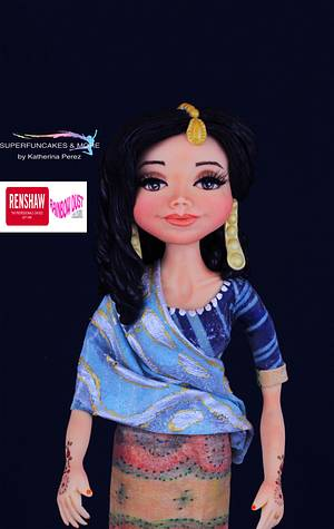 My doll bride - Spectacular Pakistan Collaboration - Cake by Super Fun Cakes & More (Katherina Perez)