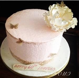Blush pink - Cake by Jaclyn Dinko