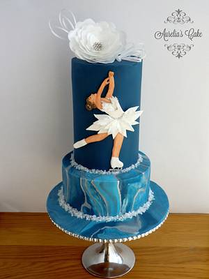 Figure Skating - Sport Cakes for Peace Collaboration - Cake by Aurelia's Cake