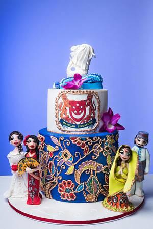Happy  50TH Birthday  SINGAPORE ! - Cake by CAKE RAGA