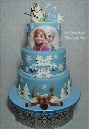 """Frozen"" themed cake - Cake by Toni (White Crafty Cakes)"
