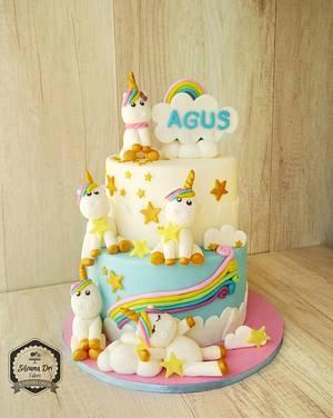 The world of unicorns - Cake by Silvana Dri Cakes