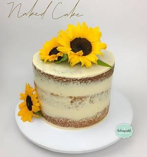 Torta Girasol Medellín - Cake by Dulcepastel.com