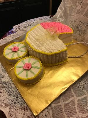 Baby Carriage - Cake by Julia