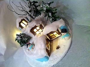 Christmas lights house - Cake by Nuria Moragrega - Cake Mistress