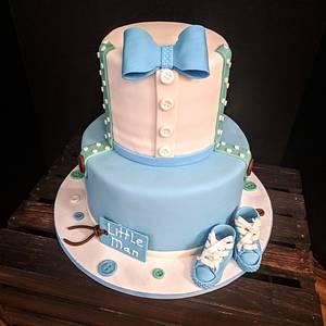 Baby boy 1st birthday cake - Cake by Della Kelley