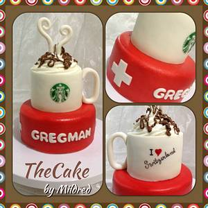 Having a Starbucks in Switzerland - Cake by TheCake by Mildred